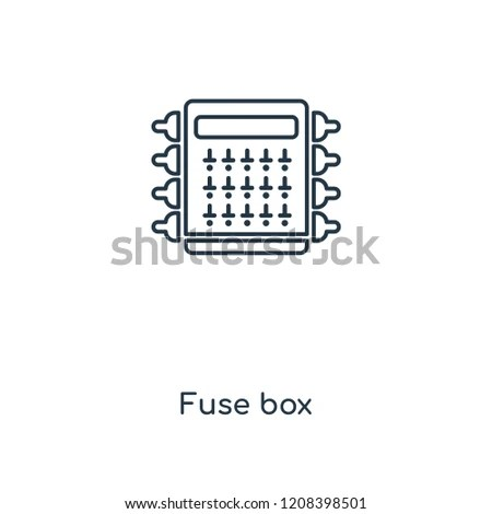 Fuse Box Concept Line Icon Linear Stock Vector (Royalty Free