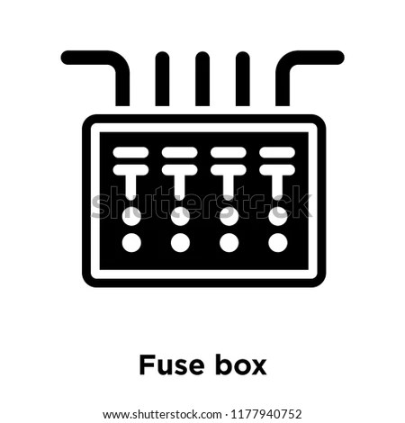 Fuse Box Icon Vector Isolated On Stock Vector (Royalty Free