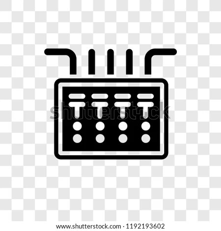 Fuse Box Vector Icon Isolated On Stock Vector (Royalty Free