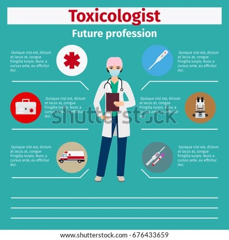 Future Profession Toxicologist Infographic Students Vector Stock