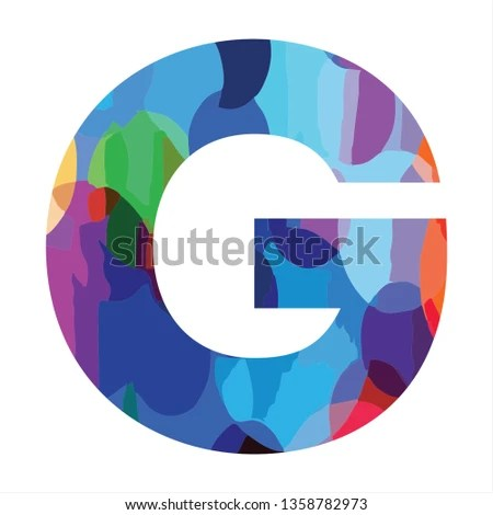 G Initials Colorful Funny Logo Stock Vector (Royalty Free
