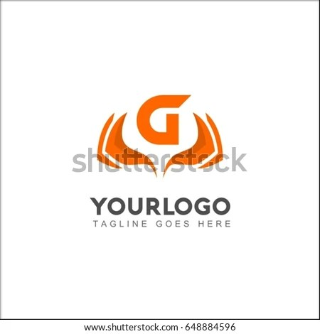 G Letter Muscle Hand Power Gladiator Stock Vector (Royalty Free
