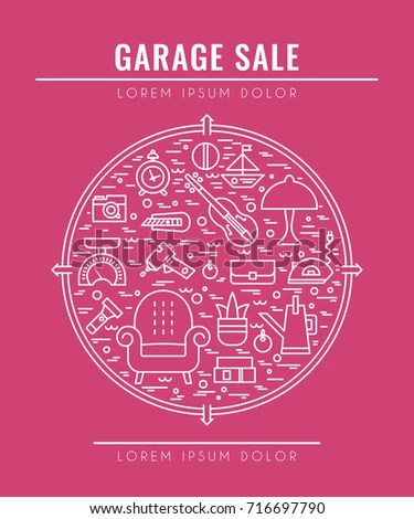 Garage Sale Sign Template Poster Banner Stock Vector (Royalty Free