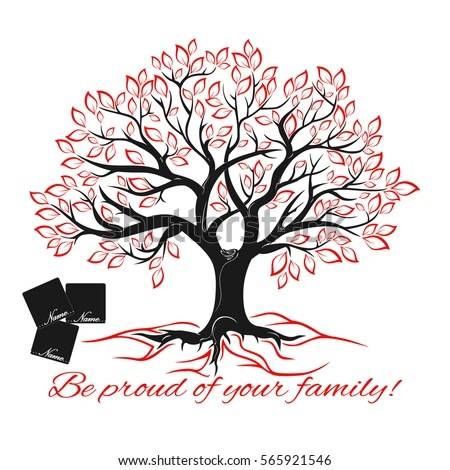 Genealogical Tree Concept Family Tree Template Stock Vector (Royalty