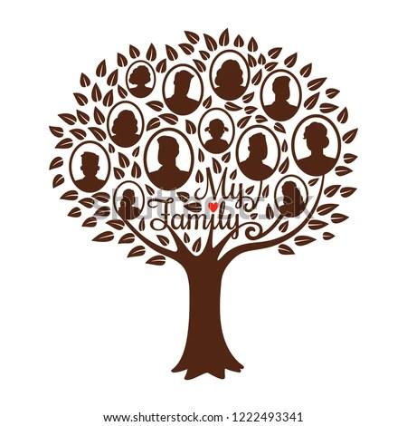 Genealogy Tree Genealogical Family Tree Vector Stock Vector (Royalty