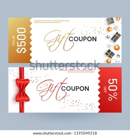 Gift Coupon Template Layout Best Discount Stock Vector (Royalty Free