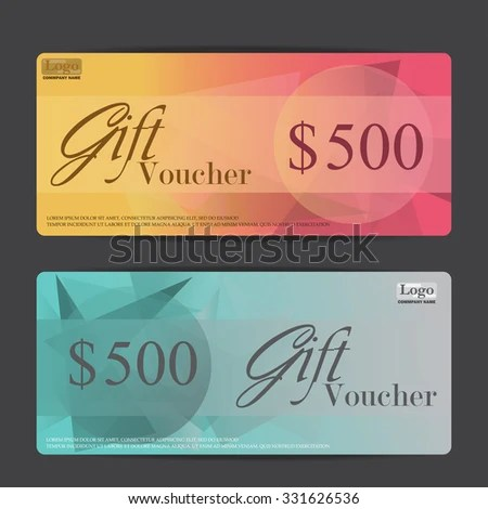 Gift Voucher Certificate Coupon Template Can Stock Vector (Royalty
