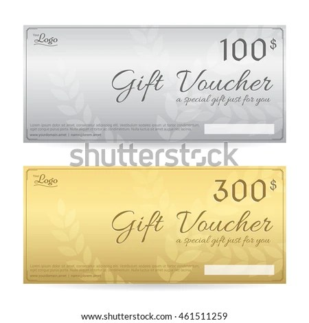 Gift Voucher Gift Certificate Template Luxury Stock Vector (Royalty