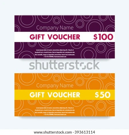 Gift Voucher Design Gift Vouchers Template Stock Vector (Royalty