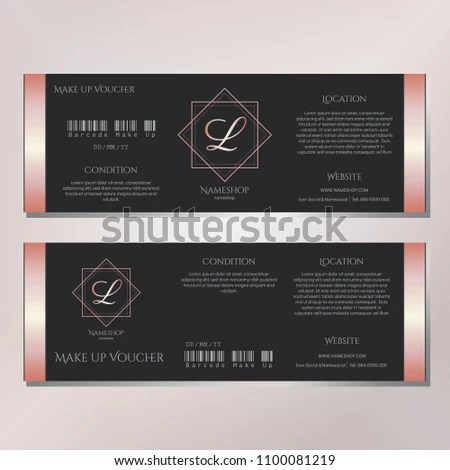 Gift Voucher Template Design Make Beautiful Stock Vector (Royalty