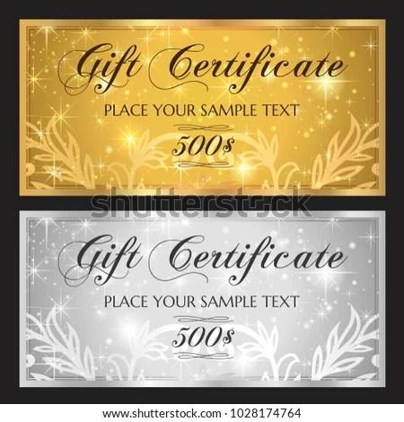 Gift Voucher Template Printable Christmas Gift Stock Vector (Royalty