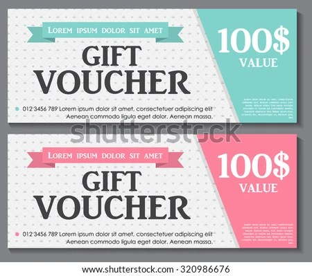 Gift Voucher Template Sample Text Vector Stock Vector (Royalty Free