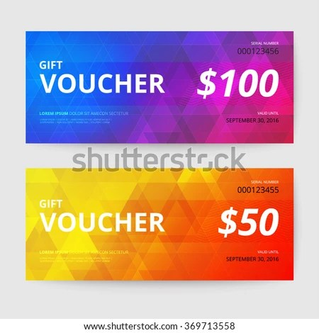 Gift Voucher Templates Stock Vector (Royalty Free) 369713558