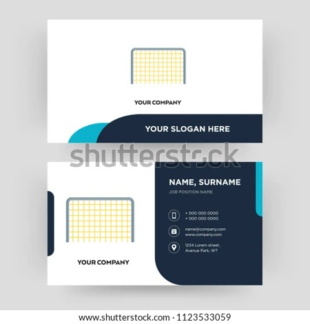 Goal Business Card Design Template Visiting Stock Vector (Royalty