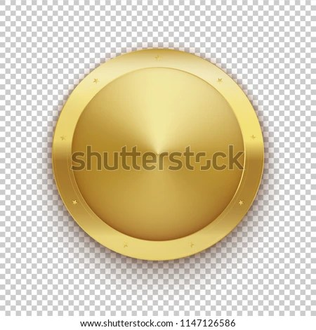 Gold Medal Golden Empty Coin Metal Stock Vector (Royalty Free