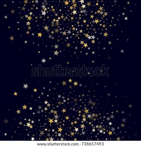 Golden Stars Glitter On Dark Blue Stock Vector (Royalty Free