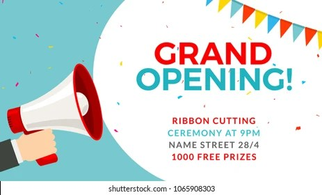 Grand Opening Images, Stock Photos  Vectors Shutterstock