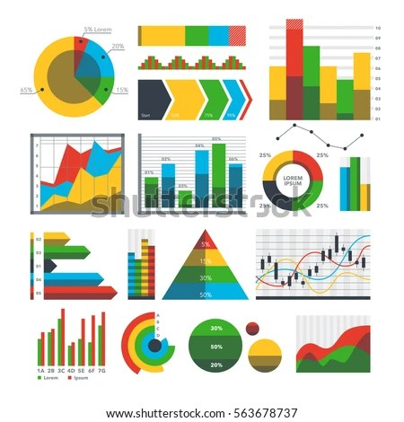 Graph Chart Icons Vector Math Finance Stock Vector (Royalty Free