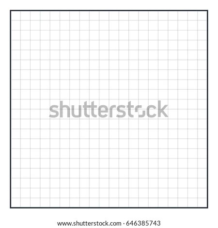 Graph Paper Coordinate Paper Grid Paper Stock Vector (Royalty Free
