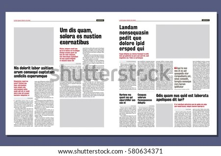Graphical Design Newspaper Template Stock Vector (Royalty Free