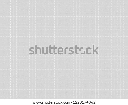 Gray Color Graph Paper Dashed Lines Stock Vector (Royalty Free
