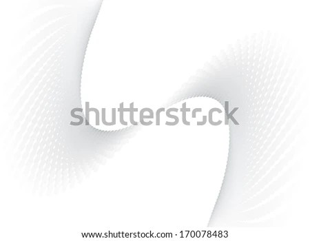 Gray Swirl Curvy Dotted Banner Background Stock Vector (Royalty Free