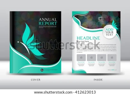 Green Cover Annual Report Template Vector Stock Vector (Royalty Free