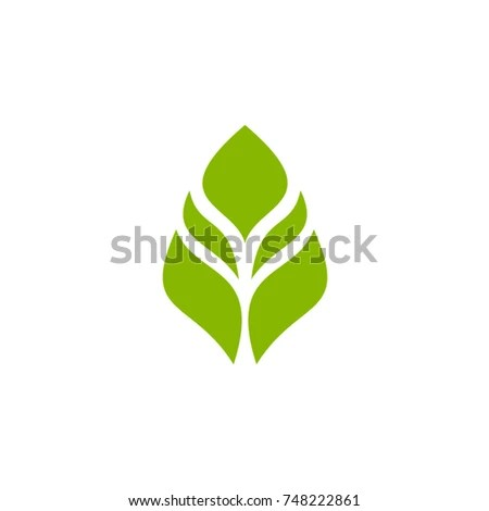 Green Leaf Eco Logo Vector Template Stock Vector (Royalty Free