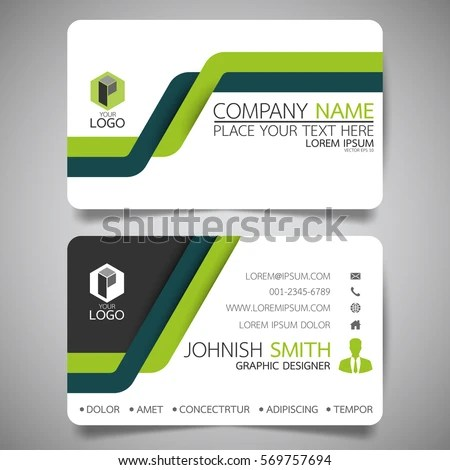 Green Line Modern Creative Business Card Stock Vector (Royalty Free
