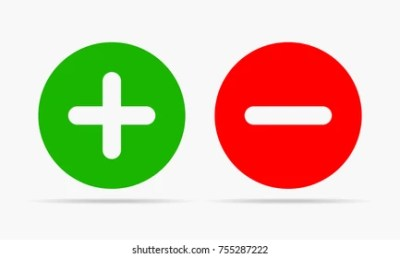 Positive Negative Icon Images, Stock Photos & Vectors | Shutterstock