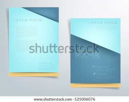 Green Turquoise Brochure Template Flyer Header Stock Vector (Royalty