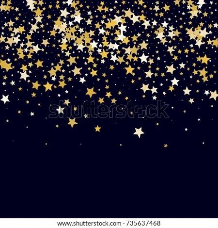 Greeting Card Invitation Template Stars Confetti Stock Vector
