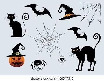 Black Cat Silhouette Images Stock Photos Vectors