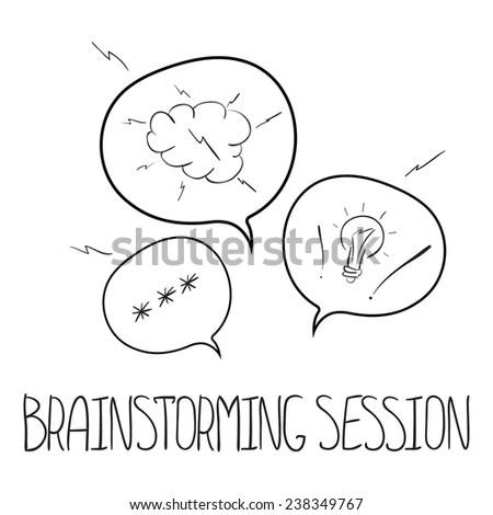 Hand Drawn Vector Speech Bubbles Concept Stock Vector (Royalty Free