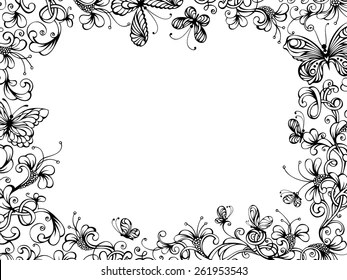 Butterfly Border Images Stock Photos Vectors Shutterstock