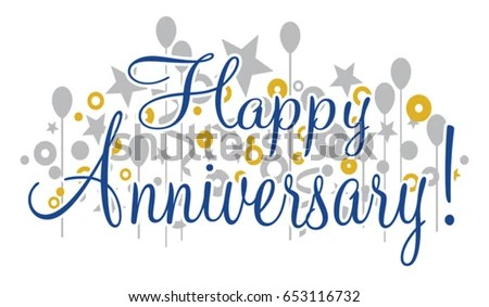 Happy Anniversary Banner Design That Would Stock Vector (Royalty