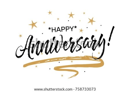 Happy Anniversary Card Beautiful Greeting Banner Stock Vector