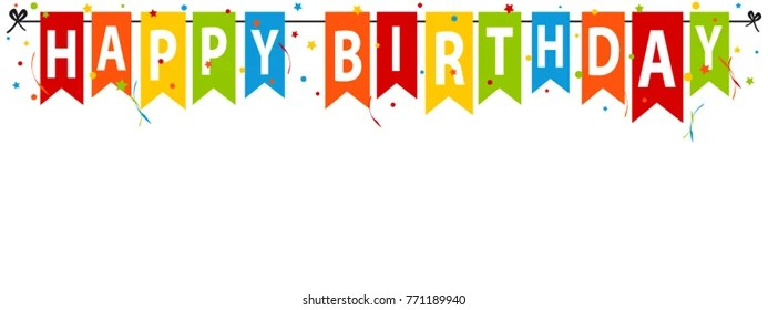 Happy Birthday Banner Images, Stock Photos  Vectors Shutterstock