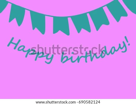Happy Birthday Card Congratulations On Birthday Stock Vector