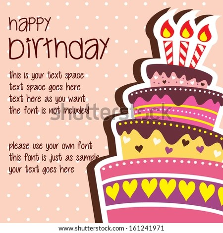 Happy Birthday Card Template Large Layered Stock Vector (Royalty - Birthday Card Sample