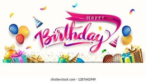 happy birthday poster Images, Stock Photos  Vectors Shutterstock