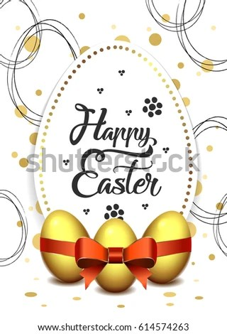 Happy Easter Flyer Template A 6 Format Stock Vector (Royalty Free