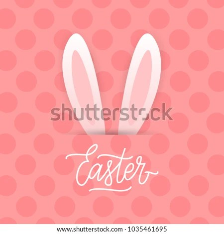 Happy Easter Postcard Template Greeting Calligraphy Stock Vector