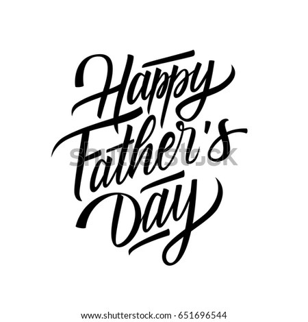 Happy Fathers Day Card Template Hand Stock Vector (Royalty Free