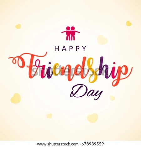 Happy Friendship Day Greeting Card Based Stock Vector (Royalty Free