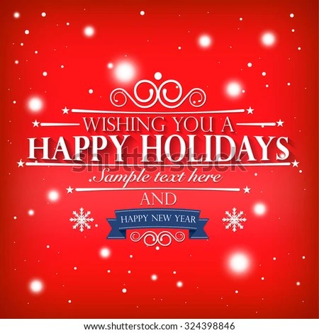 Happy Holidays Happy New Year Wishes Stock Vector (Royalty Free