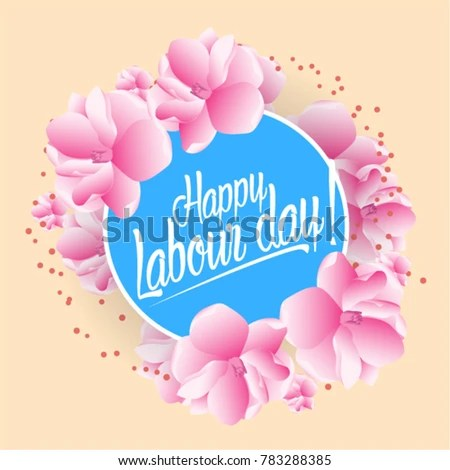 Happy Labour Day Beautiful Greeting Card Stock Vector (Royalty Free