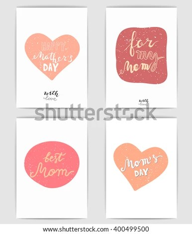 Happy Mothers Day Cards Mothers Day Stock Vector (Royalty Free - Mother S Day Cards