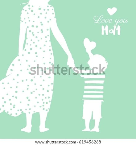 Happy Mothers Day Flyer Banner Poster Stock Vector (Royalty Free
