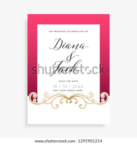 Happy Wedding Invitation Backgrounds Stock Vector (Royalty Free